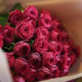 バラのみの花束