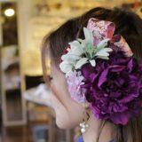 造花のヘッド飾り