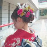 ドライ・造花MIX髪飾り