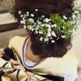 生花のヘッド飾り
